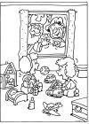 Sint en Piet zwaaien naar de kinderen