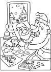 Kerstman gaat knutselen