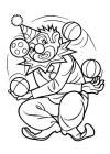 Clown - spelen met ballen