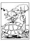 de snorkels schildpad