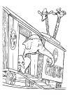 Dumbo - in de circuswagen met mama