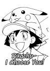 Pokemon - ash kiest pika