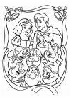 Sneeuwwitje - samen met de prins en de dwergen