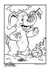 voetbal olifant met bal